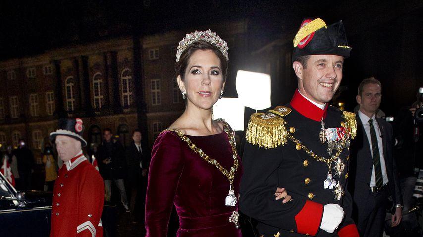 Kronprinzessin Mary und Kronprinz Frederik von Dänemark beim Neujahrsempfang 2012