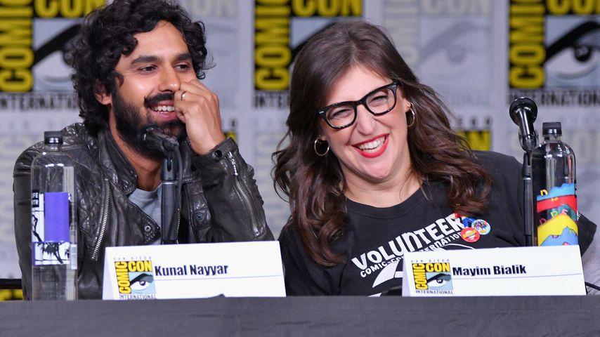 Kunal Nayyar und Mayim Bialik bei der Comic-Con 2018 in San Diego
