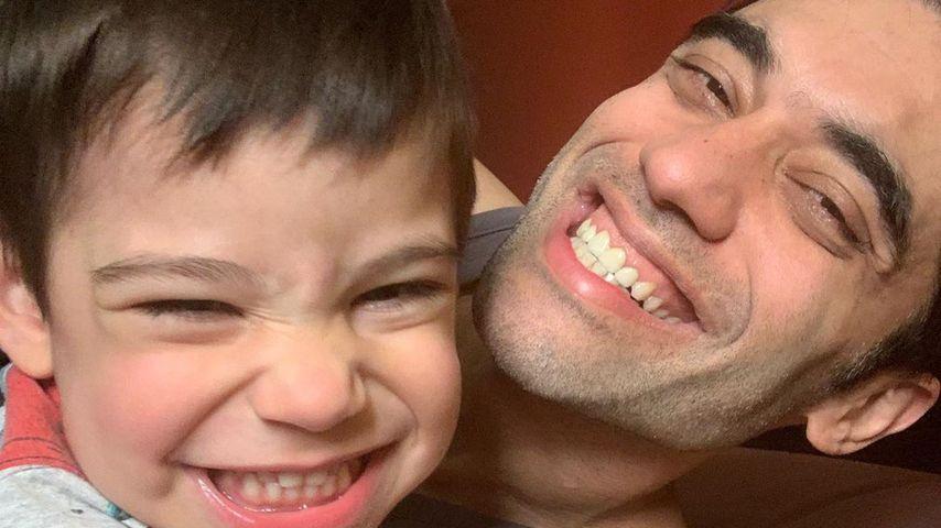 Kushal Punjabi mit seinem Sohn Kian