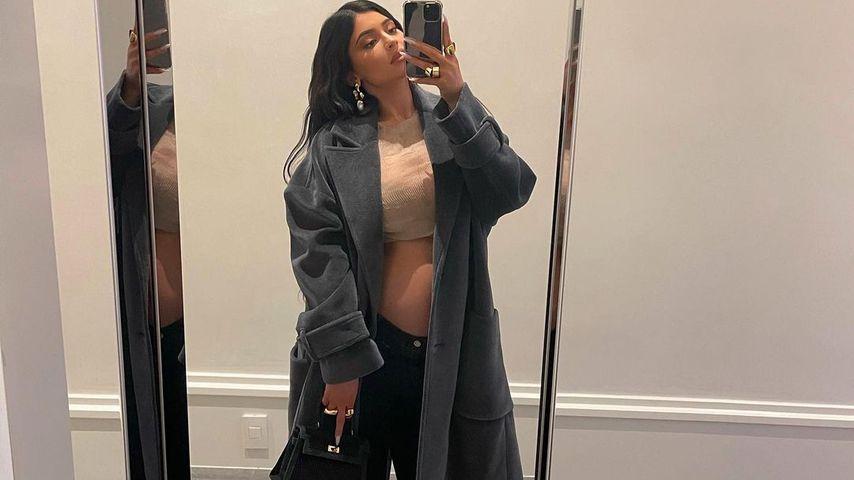 Kylie Jenners Babybauch hat einen großen Schub gemacht!