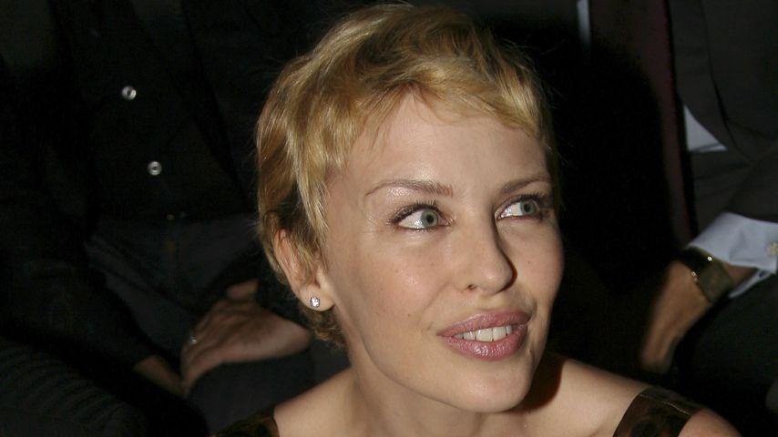 Kylie Minogue kurz nach ihrer Chemotherapie 2006