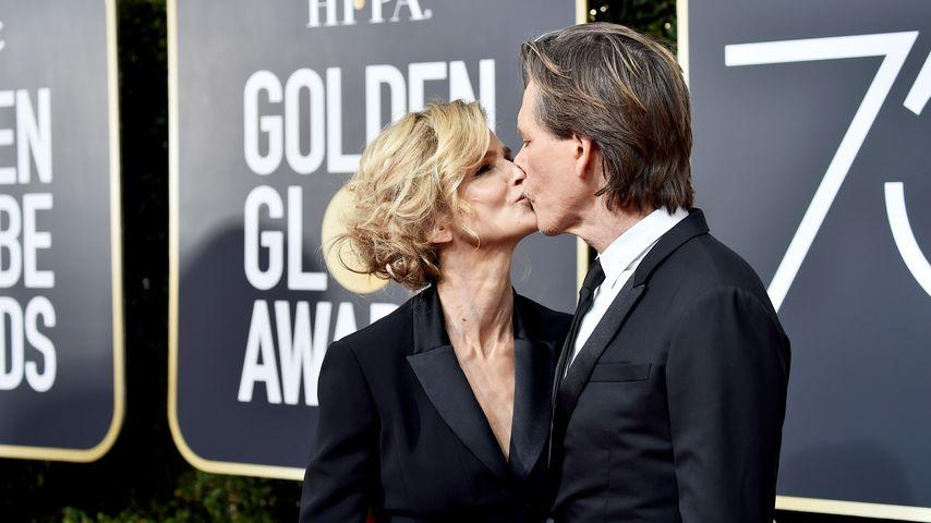 Kyra Sedgwick und Kevin Bacon bei den Golden Globes 2018