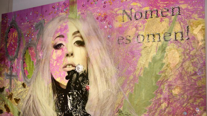 Lady-Gaga-Kunstwerk von Marnali, Künstlerpaar
