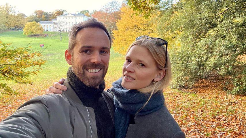 Lara Stone mit ihrem Ehemann David Grievson