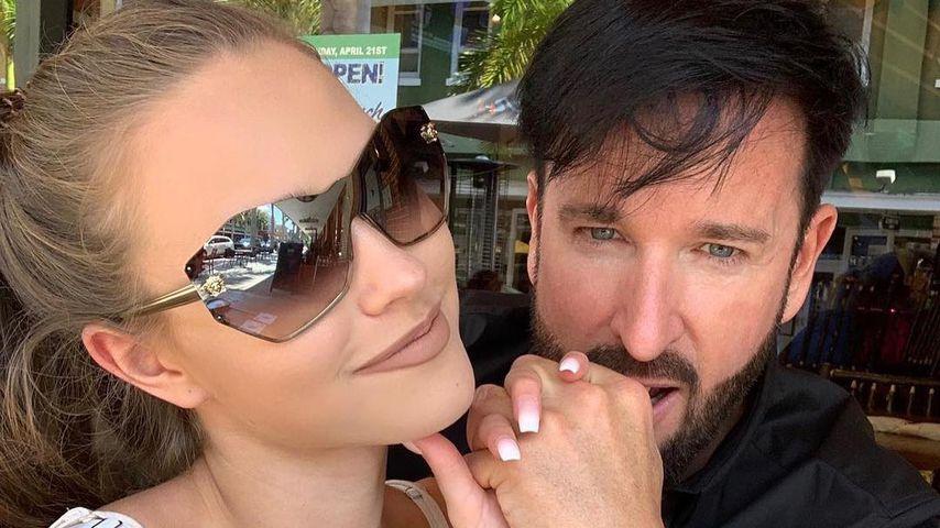 Laura Müller und Michael Wendler im April 2019