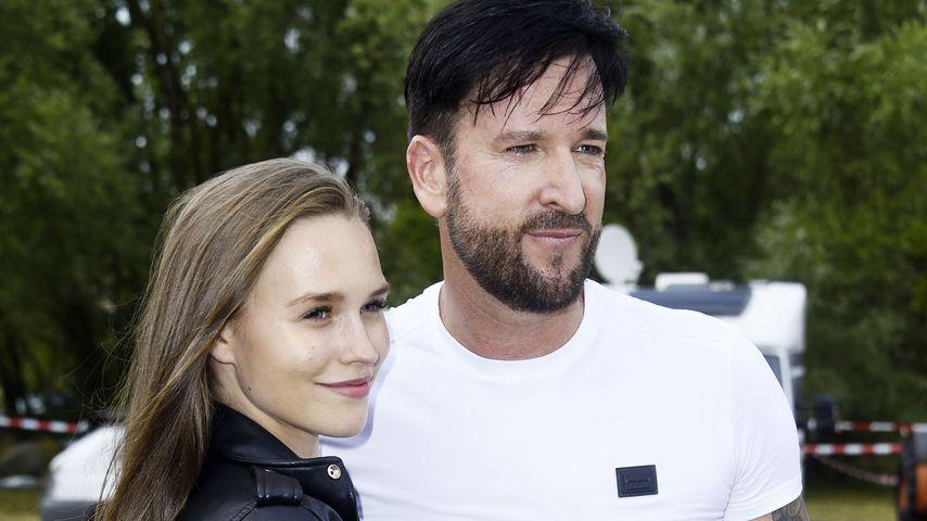 Laura Müller und Michael Wendler bei der Rostock Olé Party 2019