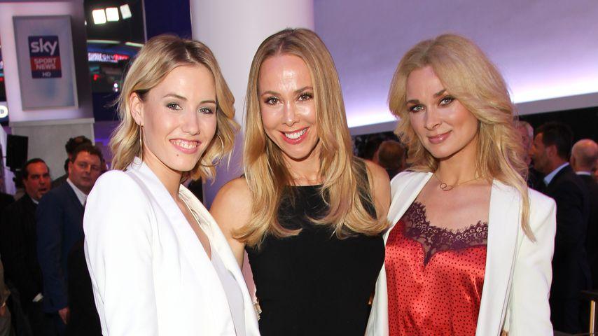 Laura Papendick, Sylvia Walker und Britta Hofmann bei der Deutschlandpremiere von Sky, 2018