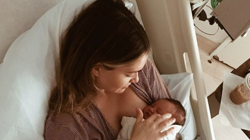 Lauren Paul mit ihrer kleinen Tochter