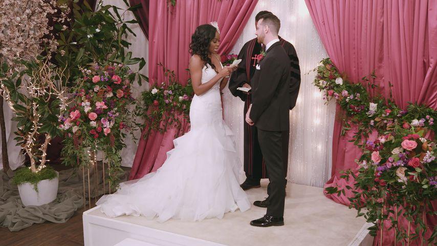 """Lauren Speed und Cameron Hamilton bei ihrer """"Liebe macht blind""""-Hochzeit"""