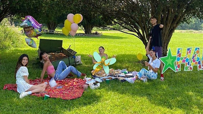 Leah McCarthy, Bella, Gigi und Anwar Hadid und Dua Lipa