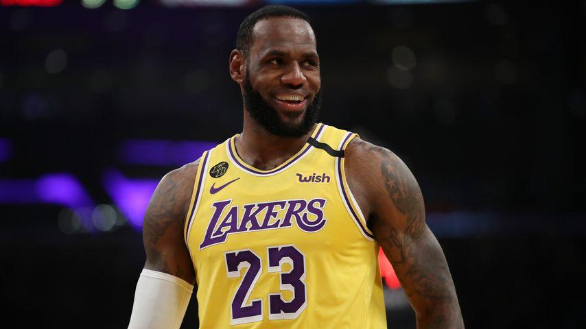 LeBron James bei einem Basketballspiel in L.A. im März 2020