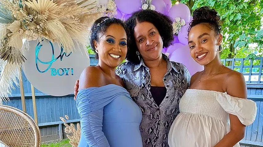 Leigh-Anne Pinnock mit ihren Schwestern Sairah und Sian im Juli 2021
