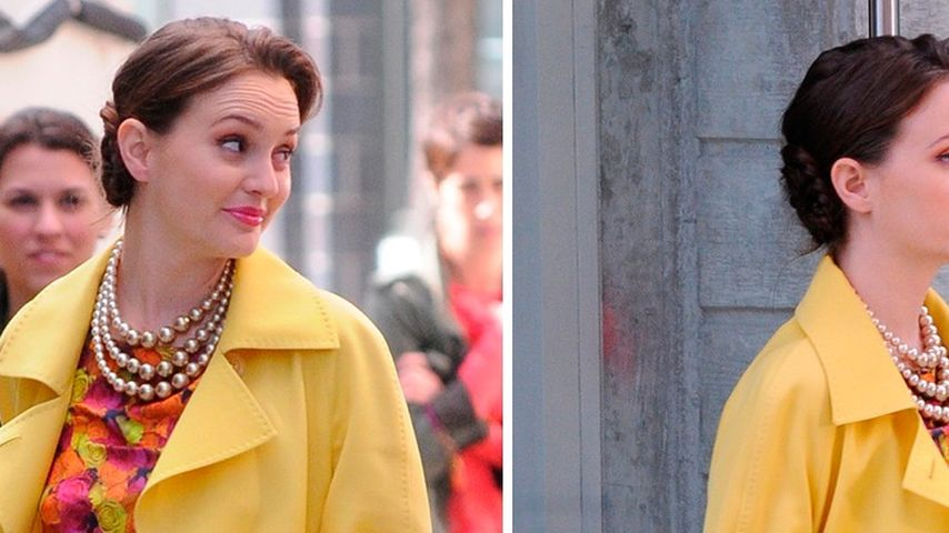 Leighton Meester im farbenfrohen Lady-Chic