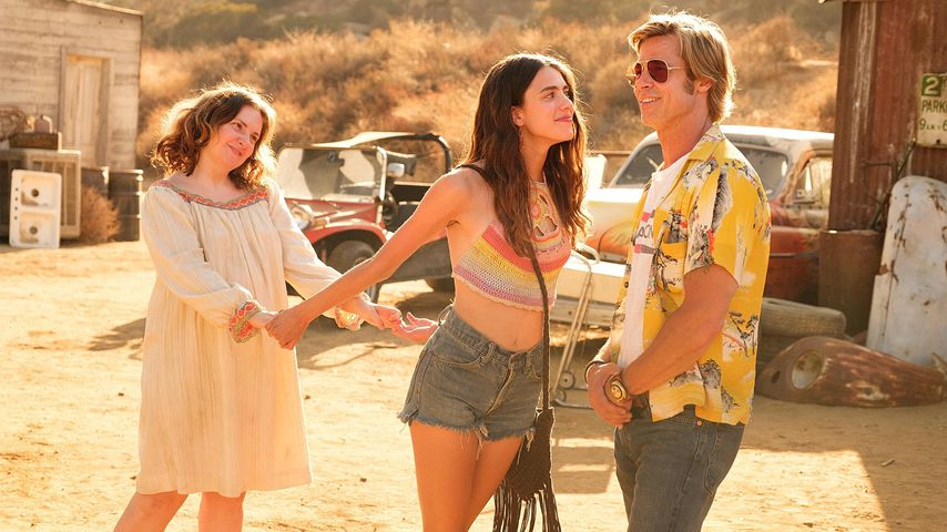 "Lena Dunham, Margaret Qualley und Brad Pitt in ""Once Upon a Time in Hollywood"""