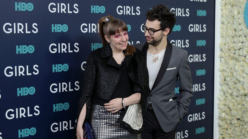 """Lena Dunham und Jack Antonoff bei der Premiere der sechsten Staffel """"Girls"""""""