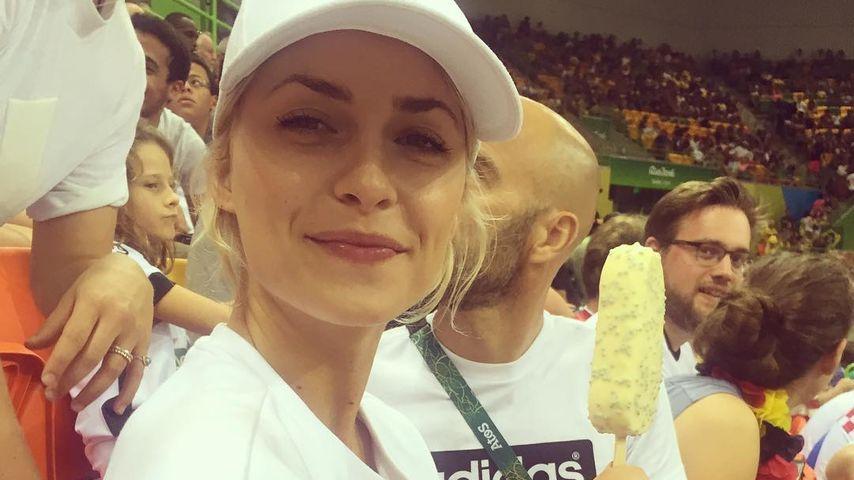 Lena Gercke bei den Olympischen Spielen in Brasilien