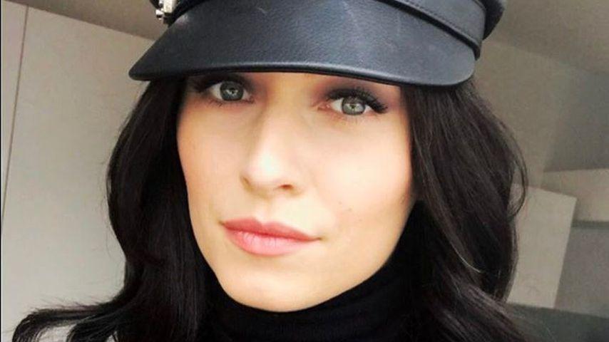 Geheim-Projekt! Dauerblondine Lena Gercke mit schwarzem Haar