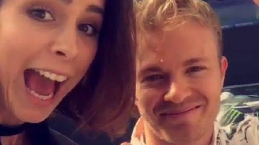 Als Rosberg-Fan: Lena Meyer-Landrut feiert Formel 1-Debüt
