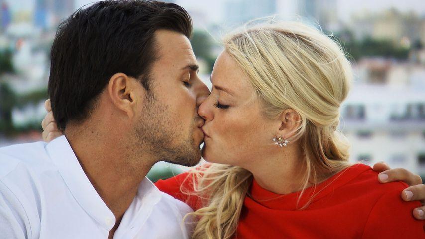 """1. Bilder vom """"Bachelor""""-Finale: Leo wieder in Knutsch-Laune"""