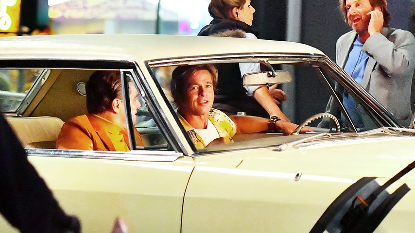 "Leonardo DiCaprio und Brad Pitt am Set von ""Once Upon A Time In Hollywood"""