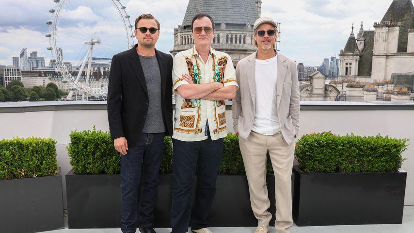 Leonardi DiCaprio, Quentin Tarantino und Brad Pitt im Juli 2019