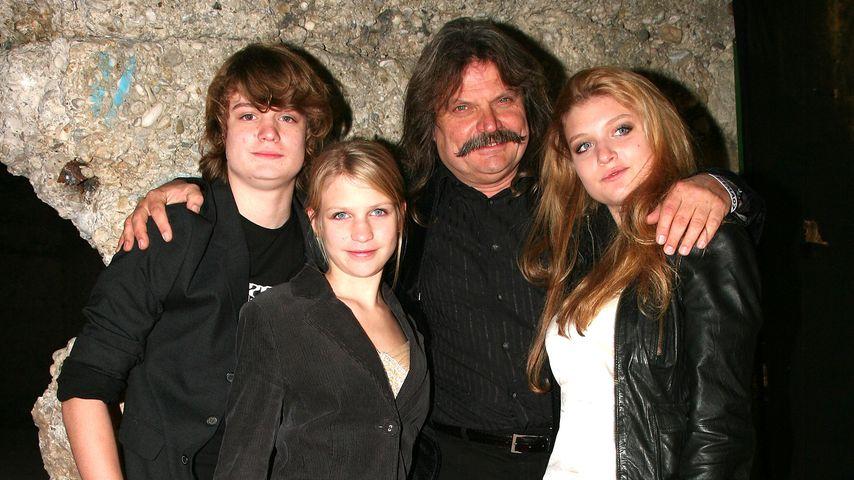 Leslie Mandoki und seine Kinder Gabor, Julia und Lara, 2007