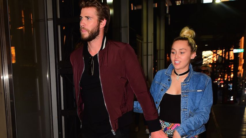 Liam Hemsworth und Miley Cyrus vor dem Soho House in New York City