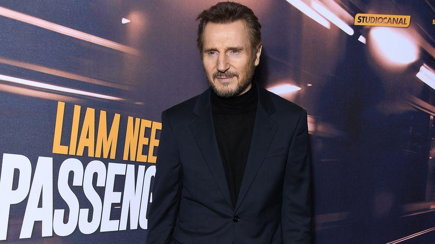 """Liam Neeson auf der Filmpremiere von """"The Passenger"""" in Paris im Jahr 2018"""