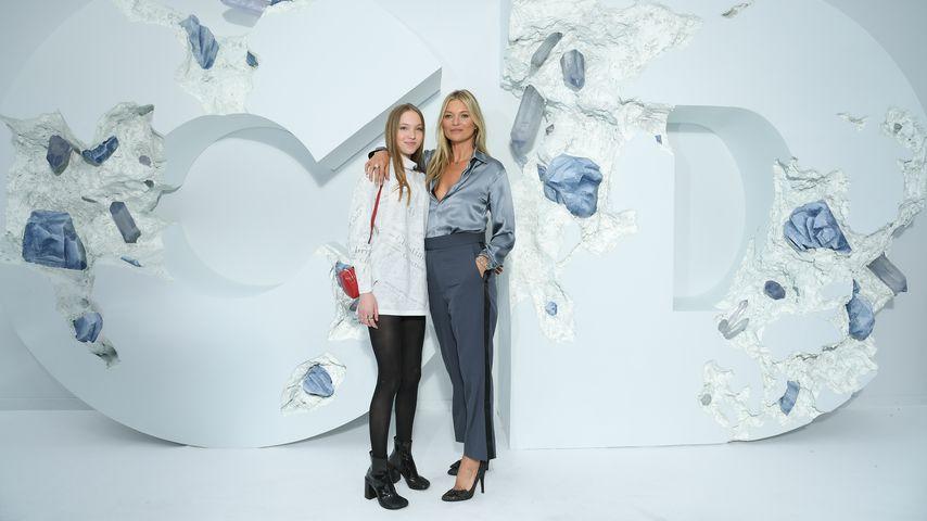 Lila und Kate Moss im Juni 2019 in Paris