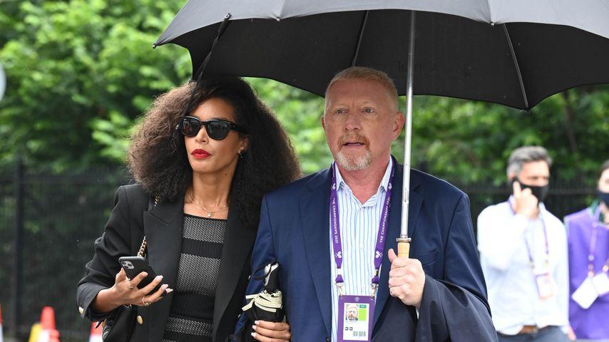 Lilian De Carvalho Monteiro und Boris Becker im Juni 2021