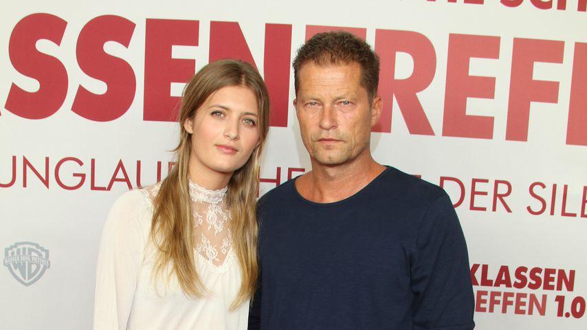 Lilli Schweiger und ihr Vater Till, September 2018