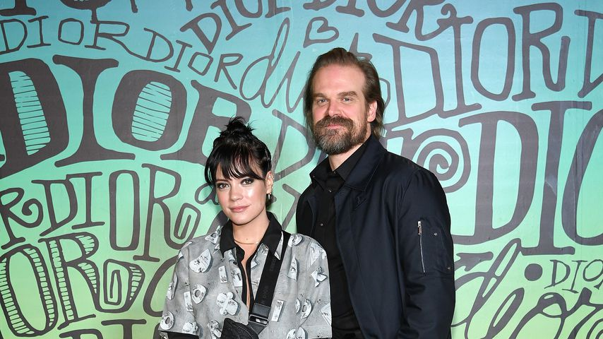 Lily Allen und David Harbour bei der Dior Fashion Show in Miami