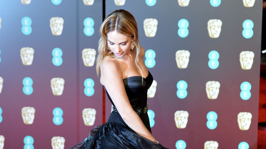 Lily James bei den BAFTA-Awards 2018