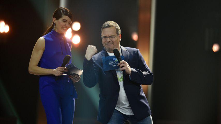 Linda Zervakis und Elton beim deutschen ESC-Vorentscheid 2018