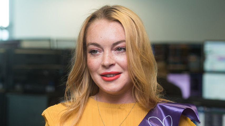 Lindsay Lohan bei einer Charity Aktion für Kinder in London