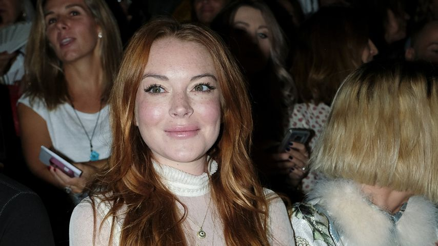 Lindsay Lohan bei der Mercedes Benz Fashion Week in Madrid, 2017