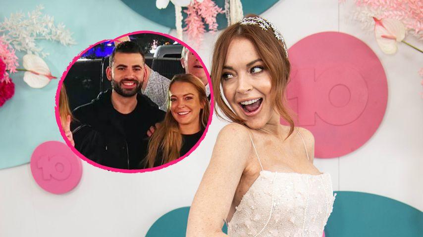 Kuscheln auf Gruppenbild: Ist das Lindsay Lohans Neuer?