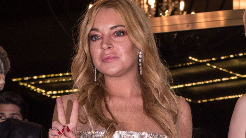 Lindsay Lohan in ihrem Nightclub in Athen