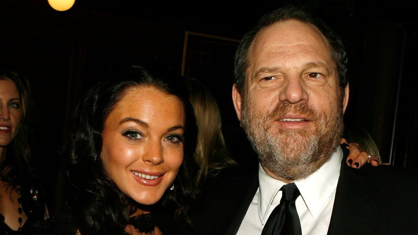 Lindsay Lohan und Harvey Weinstein 2006 in Hollywood