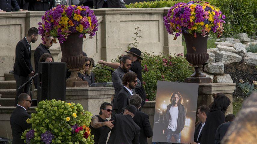 Die Band Linkin Park auf der Beerdigung von Sänger Chris Cornell am 26. Mai 2017 in Hollywood