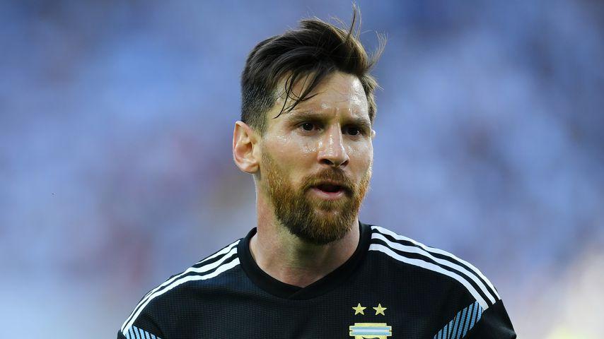 Lionel Messi beim Spiel von Argentinien gegen Island, WM 2018