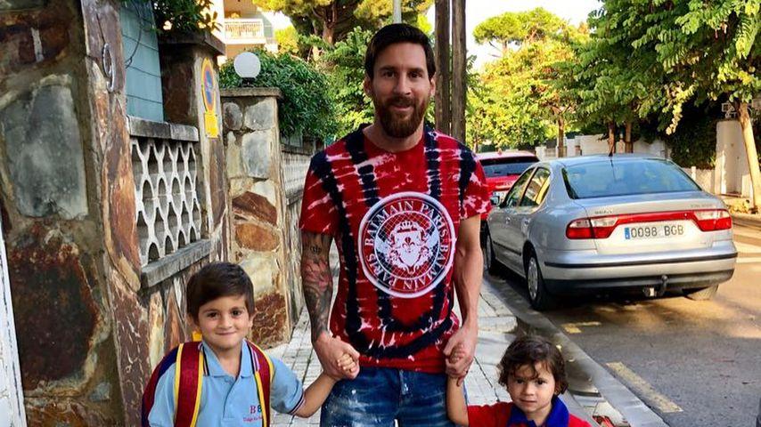 Ein Pic mit Seltenheitswert: Lionel Messi zeigt seine Kids!