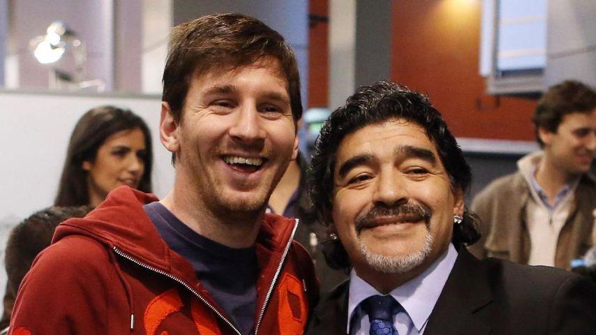 Lionel Messi und Diego Maradona