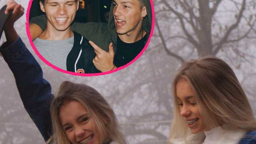 Lisa and Lena und Cody Ryan mit Tayler Holder