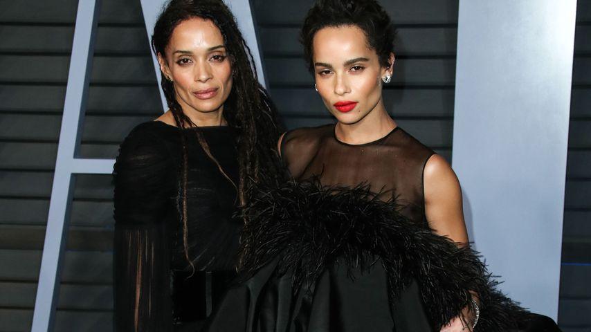 Lisa Bonet mit ihrer Tochter Zoe Kravitz auf der Vanity Fair Oscar Party 2018
