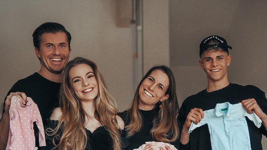 Lisa-Marie Schiffner mit ihrer Familie