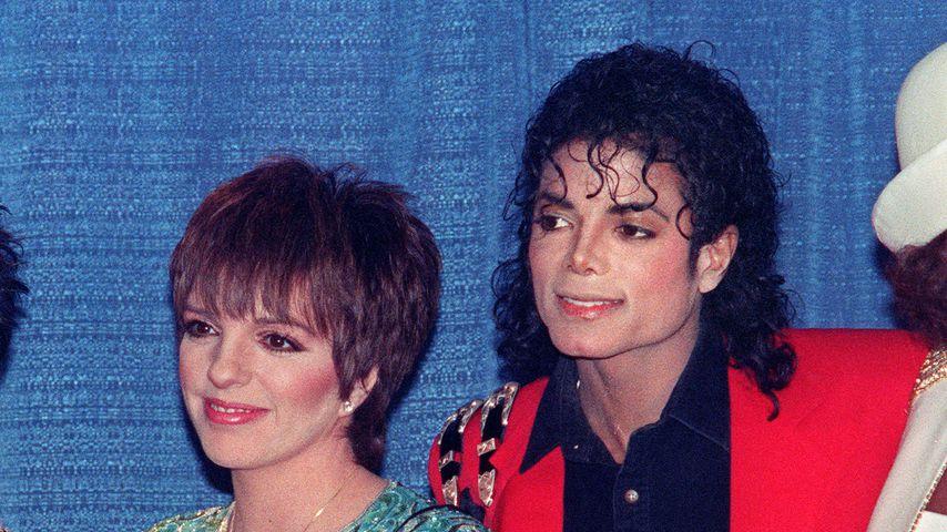Liza Minnelli und Michael Jackson im März 1988