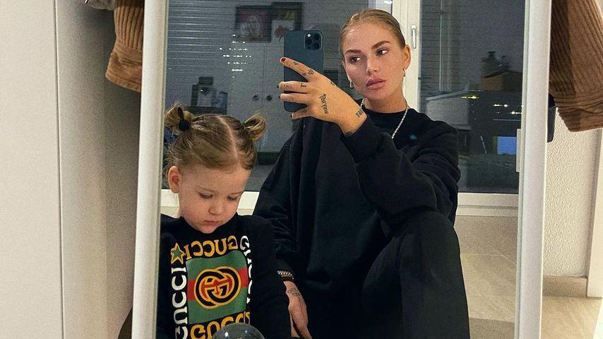 Loredana und Tochter Hana, Dezember 2020