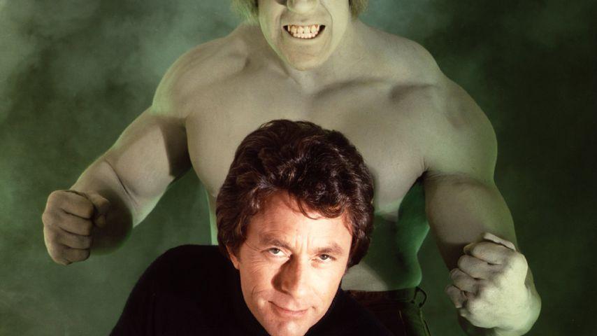 "Lou Ferrigno und Bill Bixby in der Serie ""Hulk"" 1978"