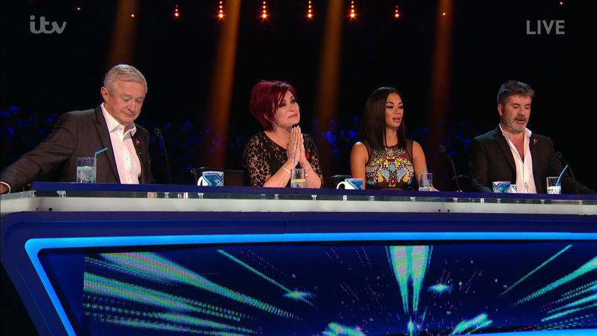 "Louis Walsh, Sharon Osbourne, Nicole Scherzinger und Simon Cowell bei ""The X Factor"""